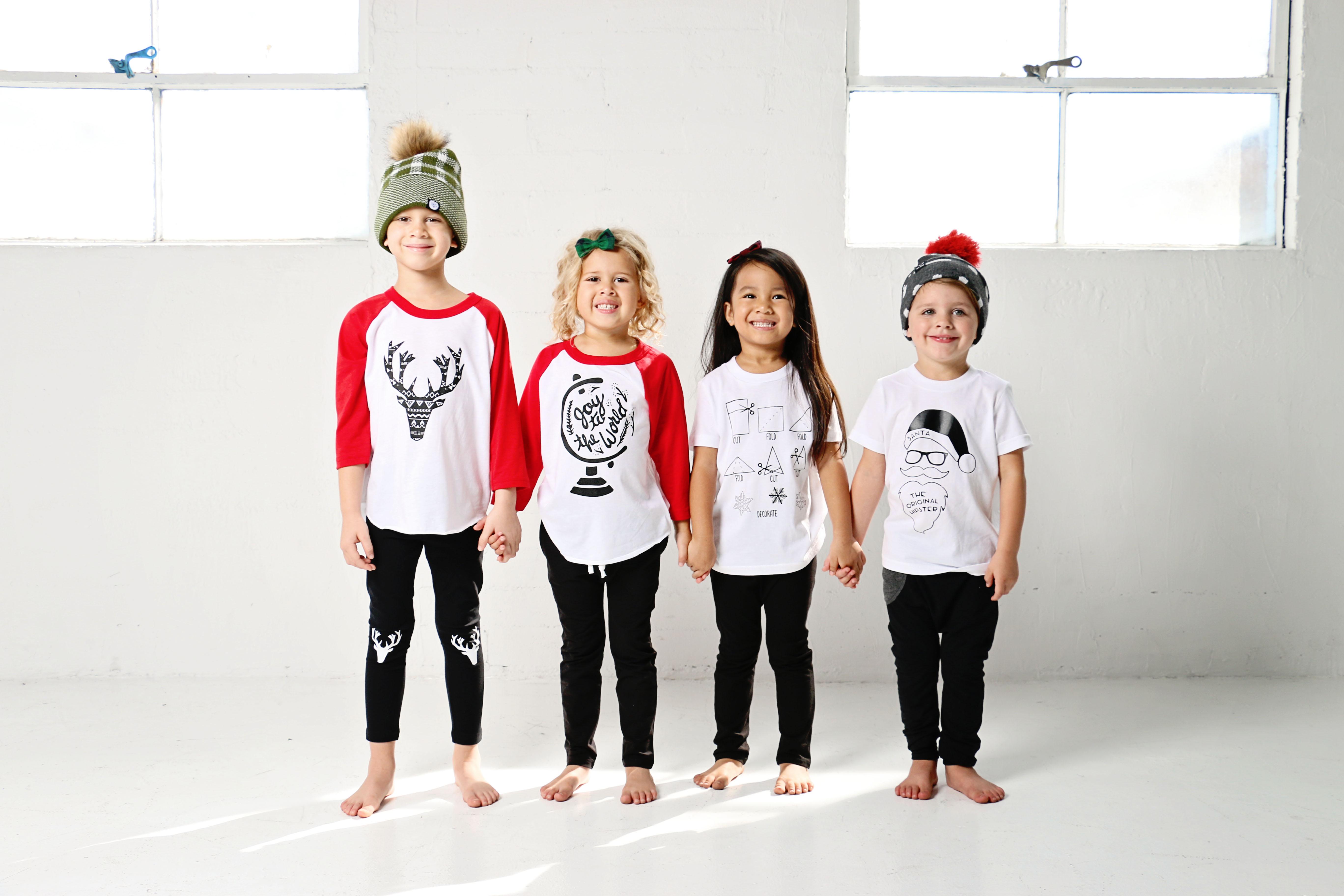 kids christmas shirts   SandiLake Clothing